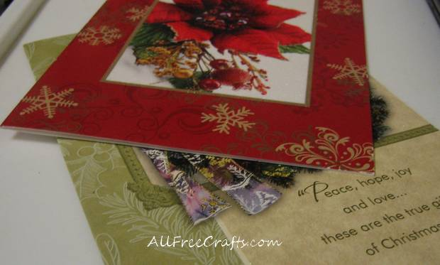 Christmas Card Strip Ornaments All Free Crafts