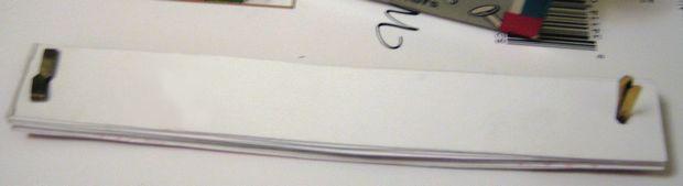 fasten card strips together