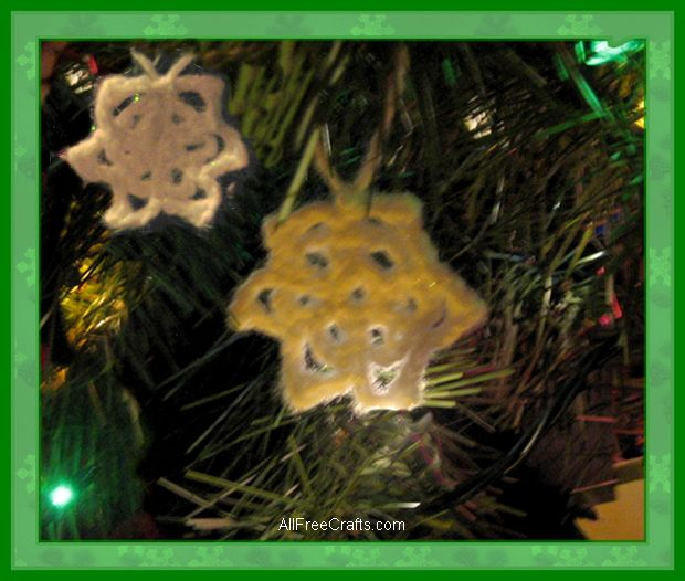 mini crocheted snowflakes