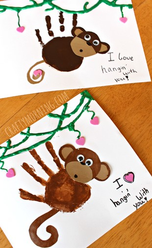 monkey hand print art