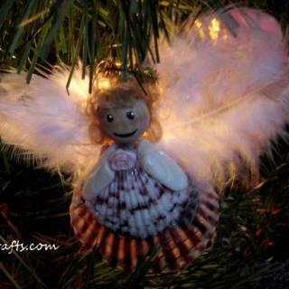 homemade seashell angel