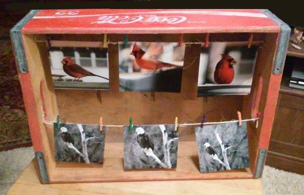 DIY coke box picture frame