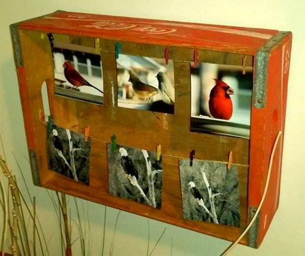 coca-cola box picture frame