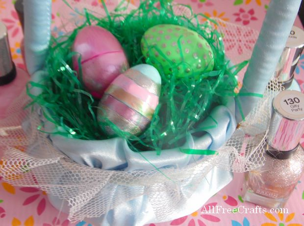 nail polished painted Easter eggs