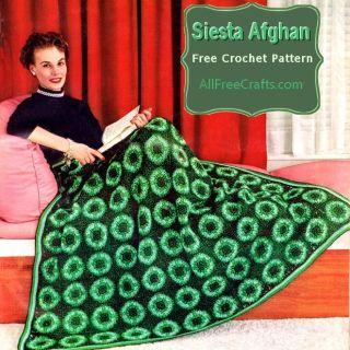 free vintage crochet pattern - siesta afghan