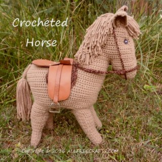 crocheted horse pattern - vintage