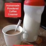 cup of coffee beside homemade powdered coffee creamer