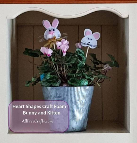 craft foam heart shaped bunny