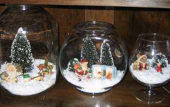 christmas glass bowl display
