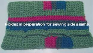 prepare bag for side seams