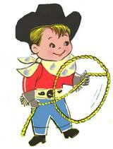 cowboy with lasso cartoon