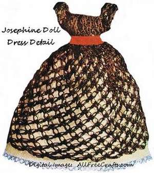 josephine doll crocheted dress