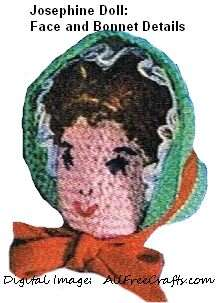 josephine crocheted doll face