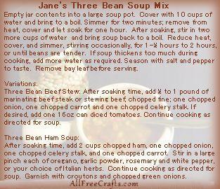 bean soup label