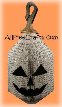 pumpkin made from a book