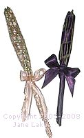 2 lavender wands