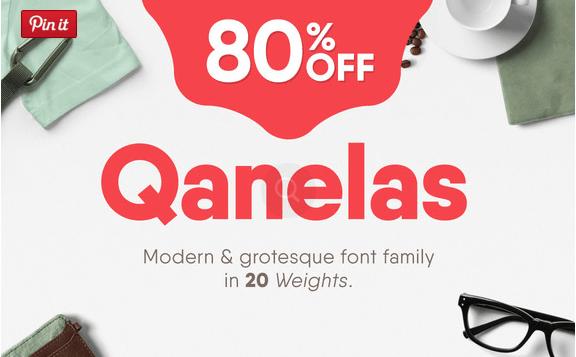 Qanelas Font Family + Web Fonts