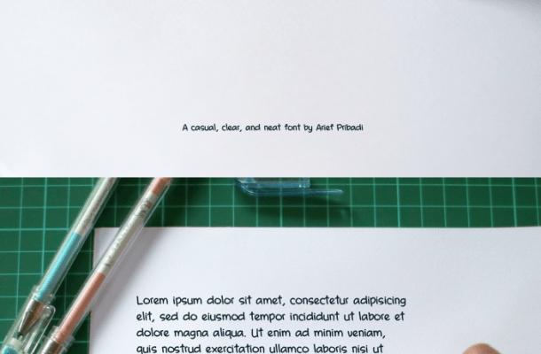 A Casual Handwritten Pen font