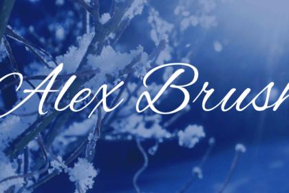 Alex Brush Font