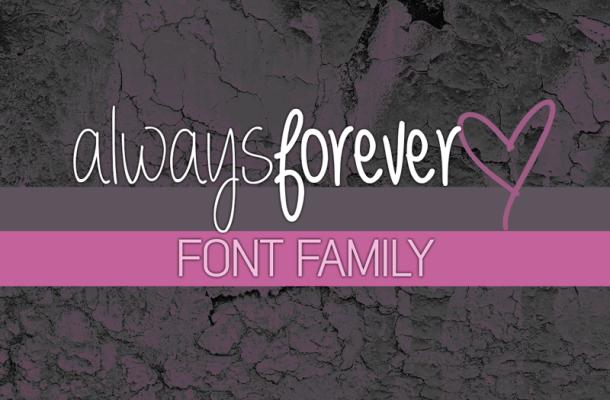 Always forever font