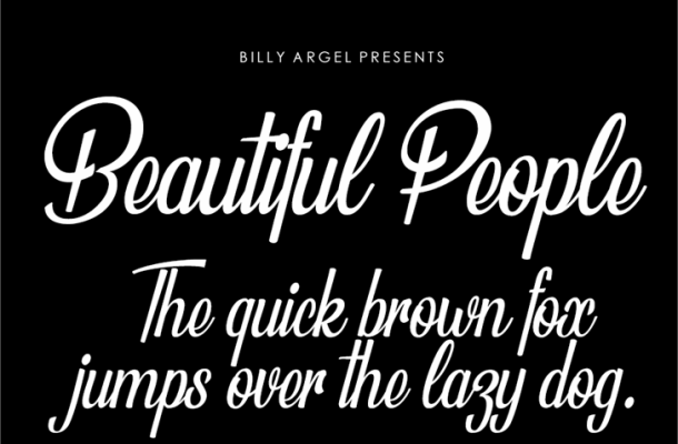 Beautiful People Personal Use Font