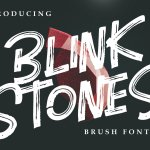 Blink Stones Brush Font