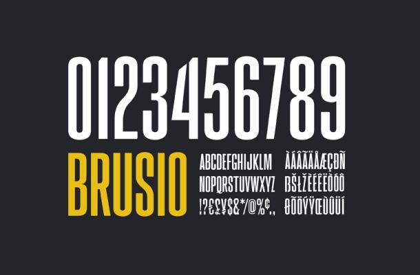 Brusio font