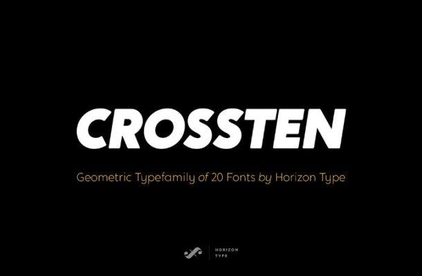 Crossten Font Family