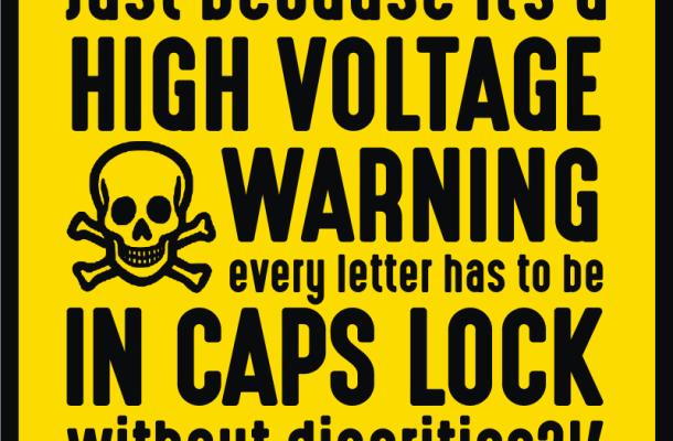 High Voltage font