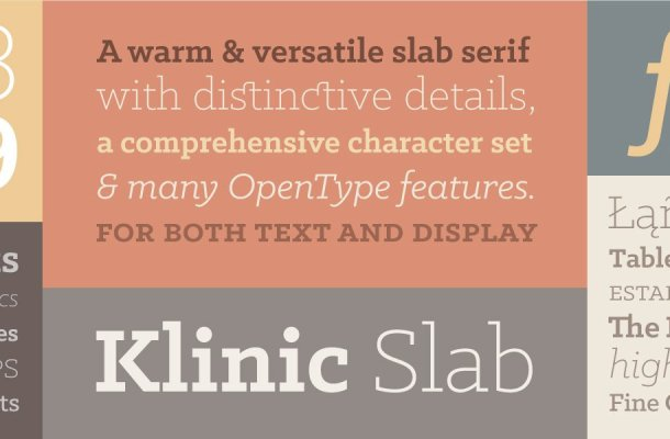 Klinic Slab Font