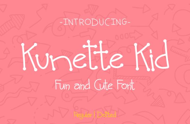 Kunette Kid font