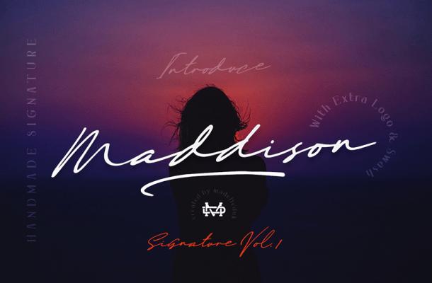 Maddison Signature font