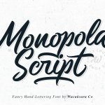Monopola Script Font