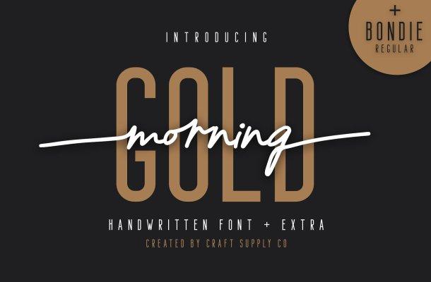 Morning Gold Handwritten Font