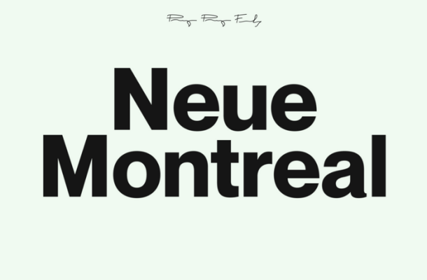 Neue Montreal Font Family