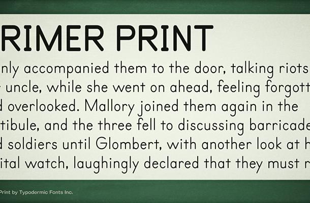 Primer Print font