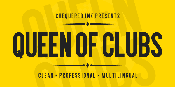 Queen of Clubs font