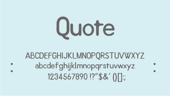 Quote font