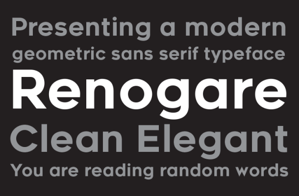 Renogare font