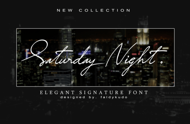 Saturday Night font