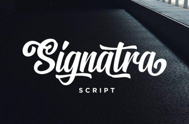 Signatra Script Font