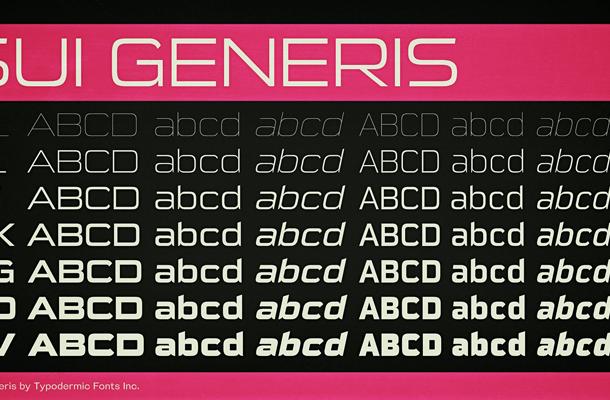Sui Generis font