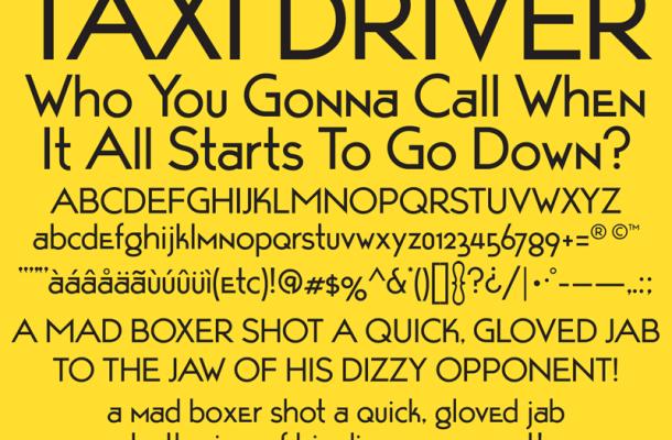 Taxi Driver font