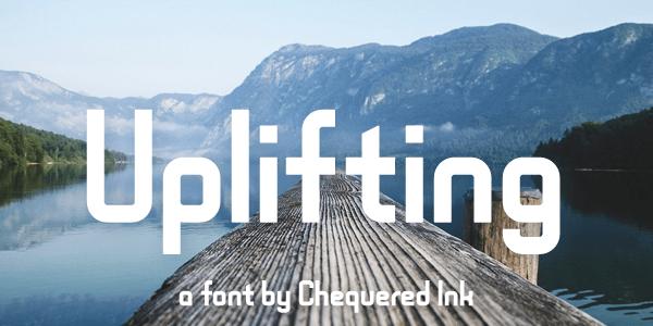 Uplifting font