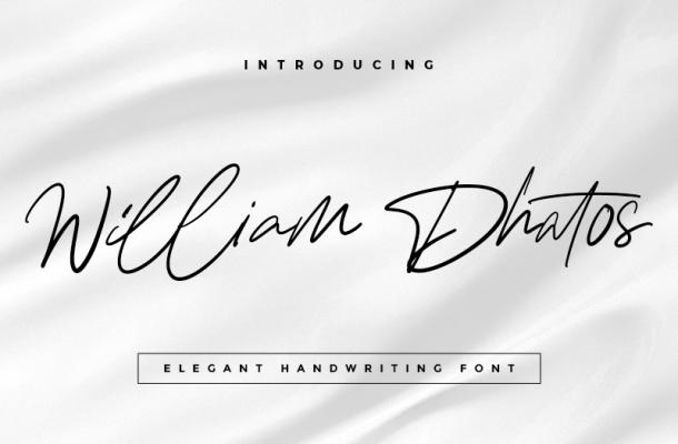 William Dhatos font