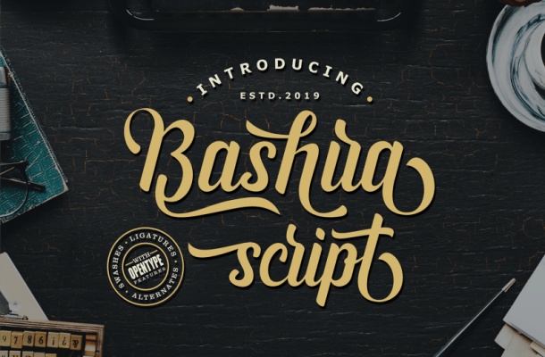Bashira Script Font