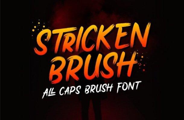 Stricken Brush Font