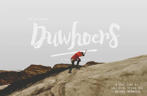 Duwhoers Brush Font