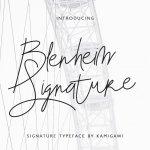 Blenheim Signature Demo Font