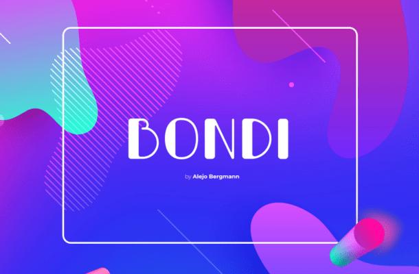 Bondi Typeface